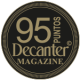 95 puntos, añada 2.011, Decanter Magazine 2.019